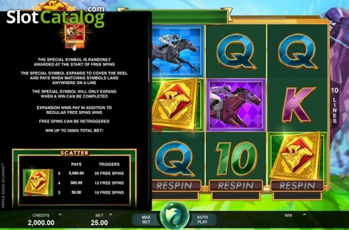 Paytable 2. Bookie of Odds (Video Slot from Triple Edge Studios)