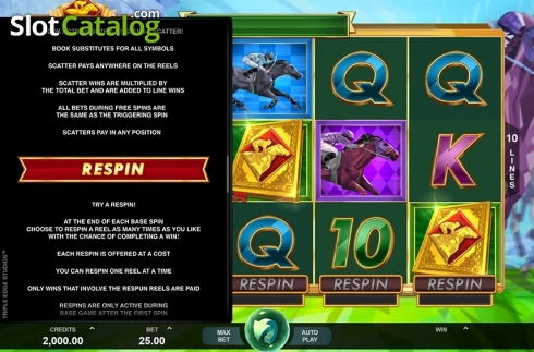 Paytable 3. Bookie of Odds (Video Slot from Triple Edge Studios)