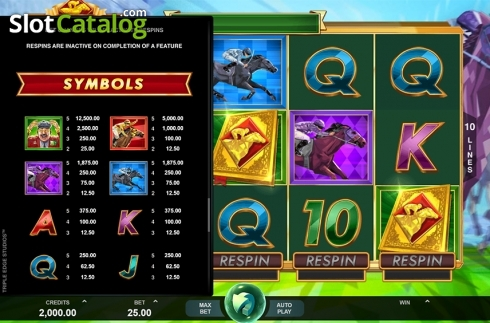 Paytable 4. Bookie of Odds (Video Slot from Triple Edge Studios)