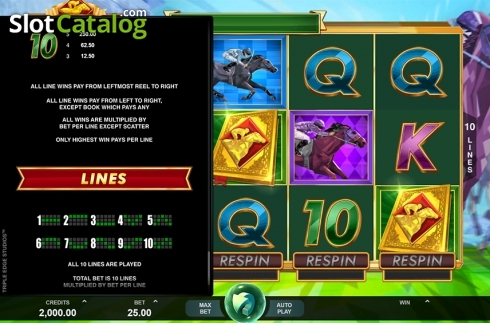Paytable 5. Bookie of Odds (Video Slot from Triple Edge Studios)