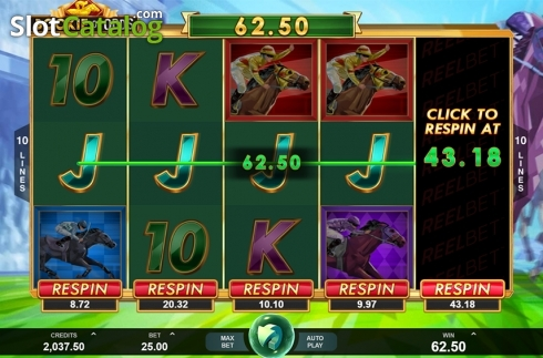Respin screen. Bookie of Odds (Video Slot from Triple Edge Studios)