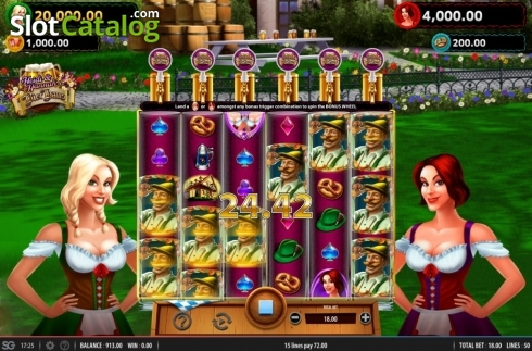 Win Screen 1. Heidi and Hannah's Bier Haus (Video Slots from WMS)