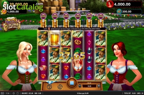 Win Screen 2. Heidi and Hannah's Bier Haus (Video Slots from WMS)