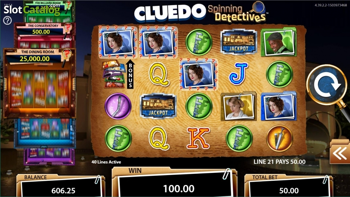 Spiele Cluedo Spinning Detectives - Video Slots Online