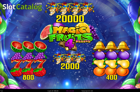 Paytable. Magic Fruits 4 Deluxe (Video Slot from Wazdan)