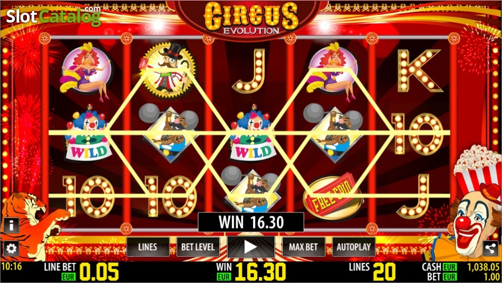 Circus Evolution HD No Download Free Play Slot