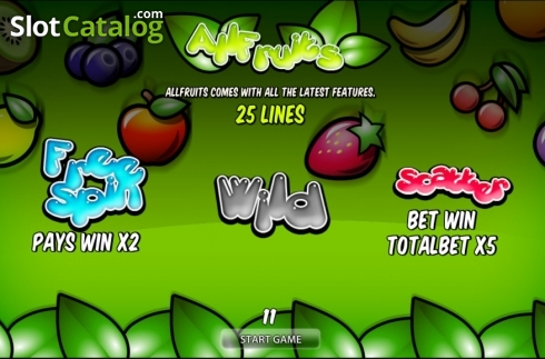 All Fruits HD (Video Slot from World Match)