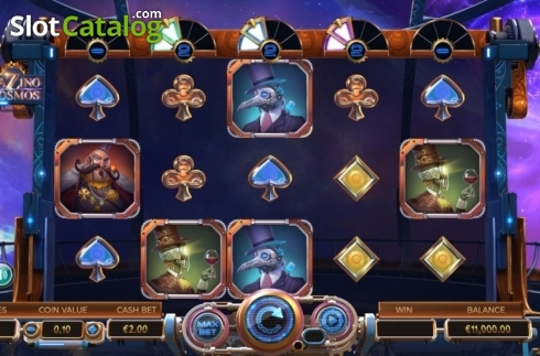 Reel Screen. Cazino Cosmos (Video Slot from Yggdrasil)