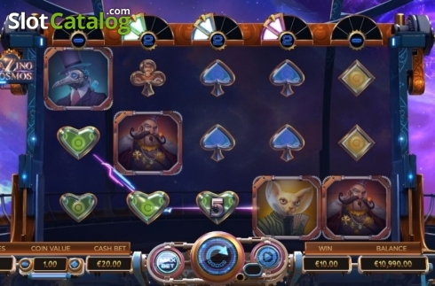 Win Sceren. Cazino Cosmos (Video Slot from Yggdrasil)