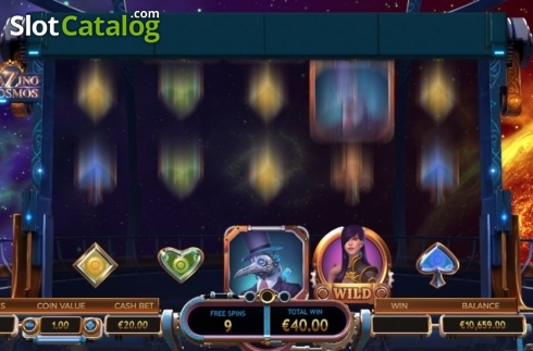 Free Spin Reels. Cazino Cosmos (Video Slot from Yggdrasil)