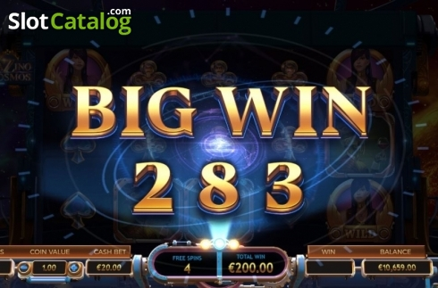Big Win. Cazino Cosmos (Video Slot from Yggdrasil)