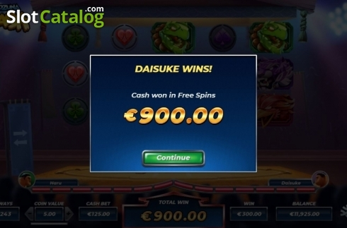 Total Win. Yokozuna Clash (Video Slots from Yggdrasil)