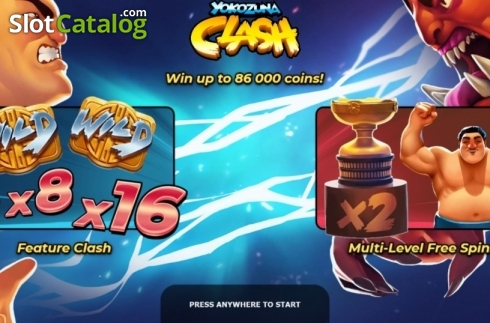 Start Screen. Yokozuna Clash (Video Slots from Yggdrasil)