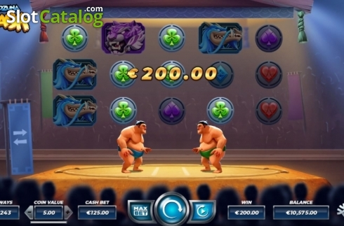 Win Screen 1. Yokozuna Clash (Video Slots from Yggdrasil)