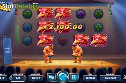 Win Screen 2. Yokozuna Clash (Video Slots from Yggdrasil)