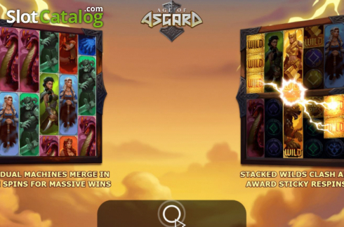 Start Screen. Age of Asgard (Video Slots from Yggdrasil)