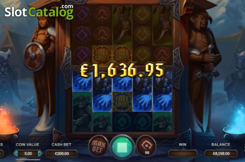 Win Screen 1. Age of Asgard (Video Slots from Yggdrasil)