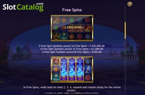 Features 2. Sahara Nights (Video Slot from Yggdrasil)