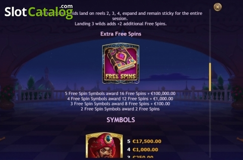 Features 3. Sahara Nights (Video Slot from Yggdrasil)
