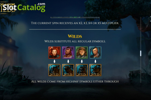Features 7. Blood Moon Wilds (Video Slots from Yggdrasil)