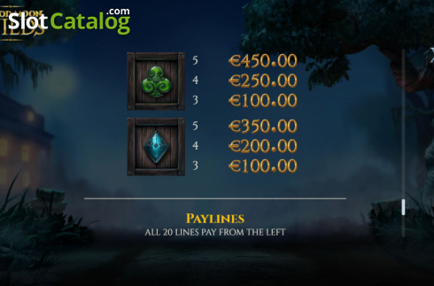 Paytable 3. Blood Moon Wilds (Video Slots from Yggdrasil)