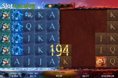 Win Screen 1. Ice and Fire (Video Slots from Dream Tech)