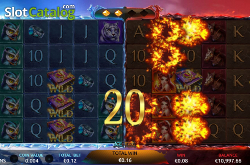 Win Screen 2. Ice and Fire (Video Slots from Dream Tech)