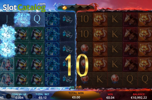 Win Screen 3. Ice and Fire (Video Slots from Dream Tech)