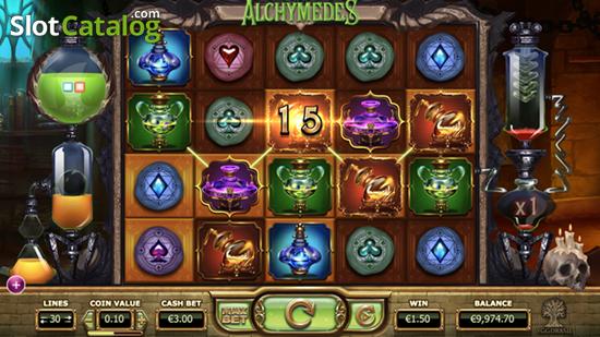 Alchymedes - многоуровневый игровой автомат