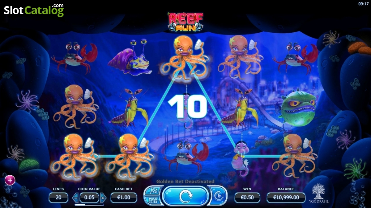 Reef Run Slot - Free Online Yggdrasil Gaming Slots Game