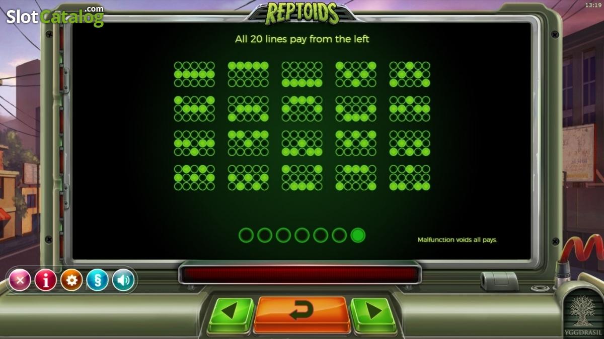 Reptoids Slot Machine