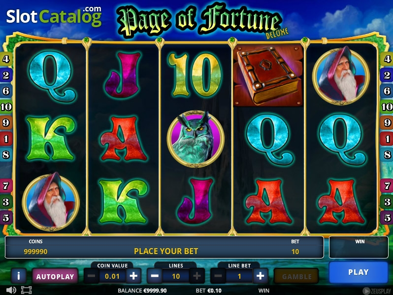 Page of Fortune Deluxe Slots - Play it Now for Free