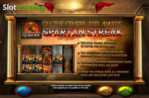 Screen2. Fortunes of Sparta (Video Slot from Blueprint)