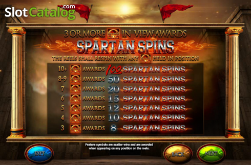 Screen3. Fortunes of Sparta (Video Slot from Blueprint)