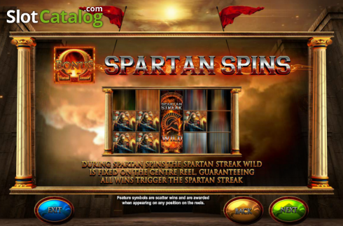 Screen4. Fortunes of Sparta (Video Slot from Blueprint)