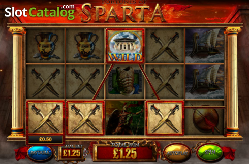 Screen8. Fortunes of Sparta (Video Slot from Blueprint)