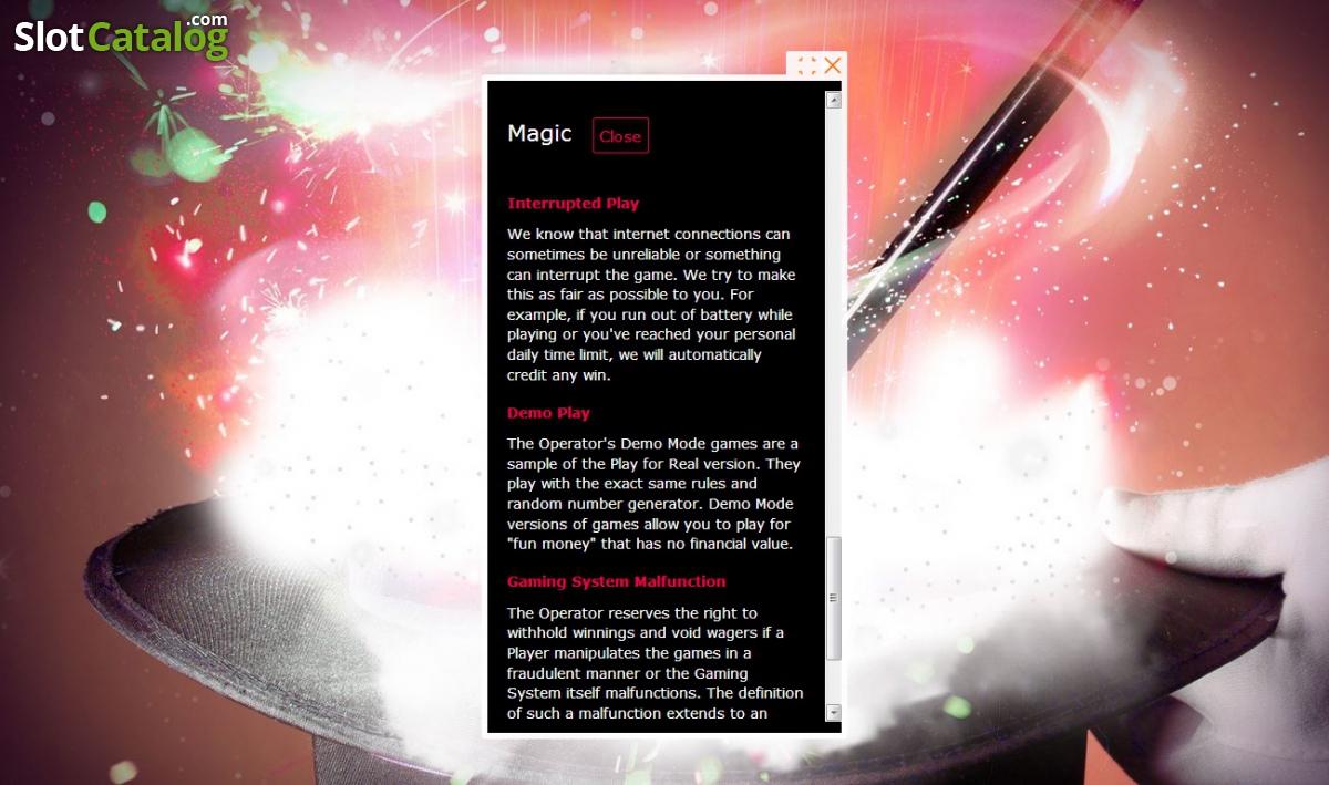 Magic Slot Review, Bonus Codes & where to play from United Kingdom