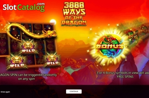Start Screen. 3888 Ways of the Dragon (Video Slot from iSoftBet)