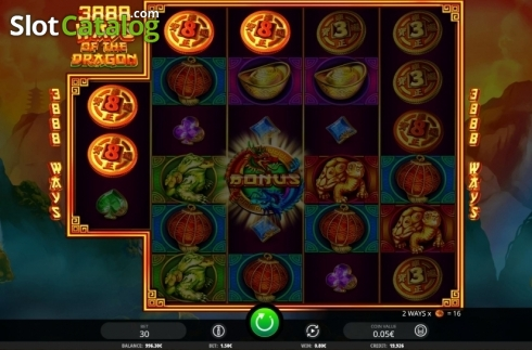 Win Screen. 3888 Ways of the Dragon (Video Slot from iSoftBet)