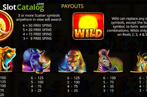 Paytable 1. Jumbo Stampede (Video Slot from iSoftBet)