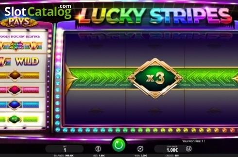 Win Screen 1. Lucky Stripes (Video Slot from iSoftBet)
