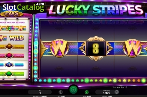 Win Screen 2. Lucky Stripes (Video Slot from iSoftBet)