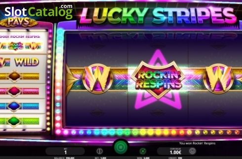 Rockin' Respins. Lucky Stripes (Video Slot from iSoftBet)