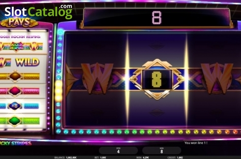 Respins. Lucky Stripes (Video Slot from iSoftBet)