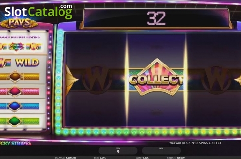Win Screen. Lucky Stripes (Video Slot from iSoftBet)
