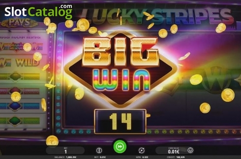 Big Win. Lucky Stripes (Video Slot from iSoftBet)