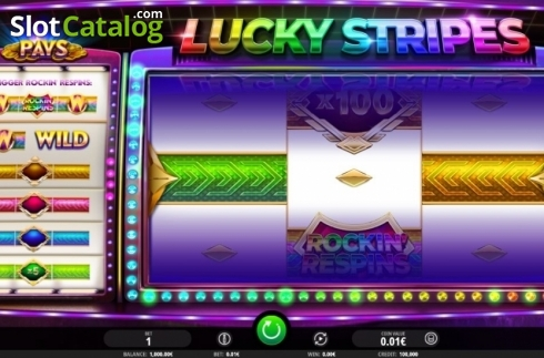 Reel Screen. Lucky Stripes (Video Slot from iSoftBet)