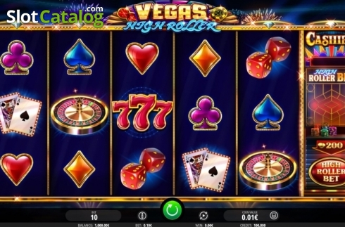 Reel Screen. Vegas High Roller (Video Slot from iSoftBet)