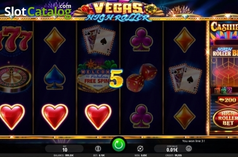 Win Screen. Vegas High Roller (Video Slot from iSoftBet)
