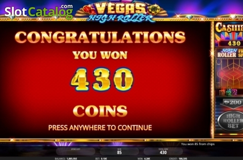 Total Win. Vegas High Roller (Video Slot from iSoftBet)